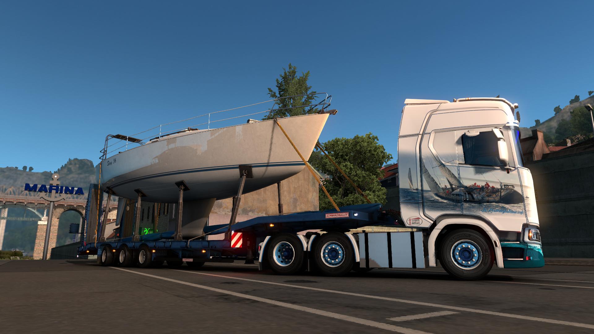 Transport voilier par la route