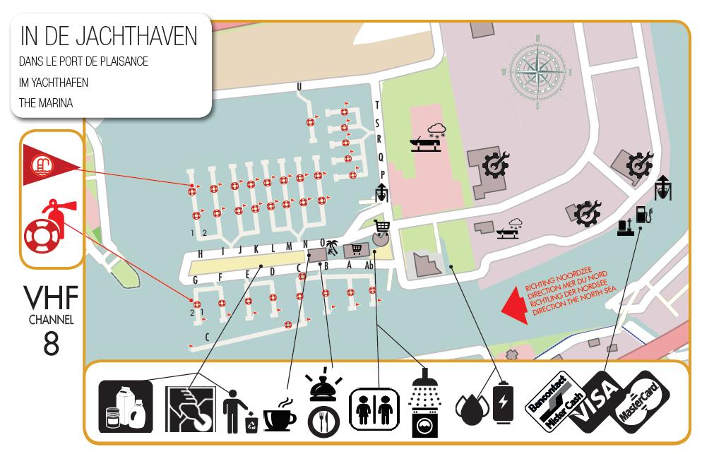 Plan du port nieuport