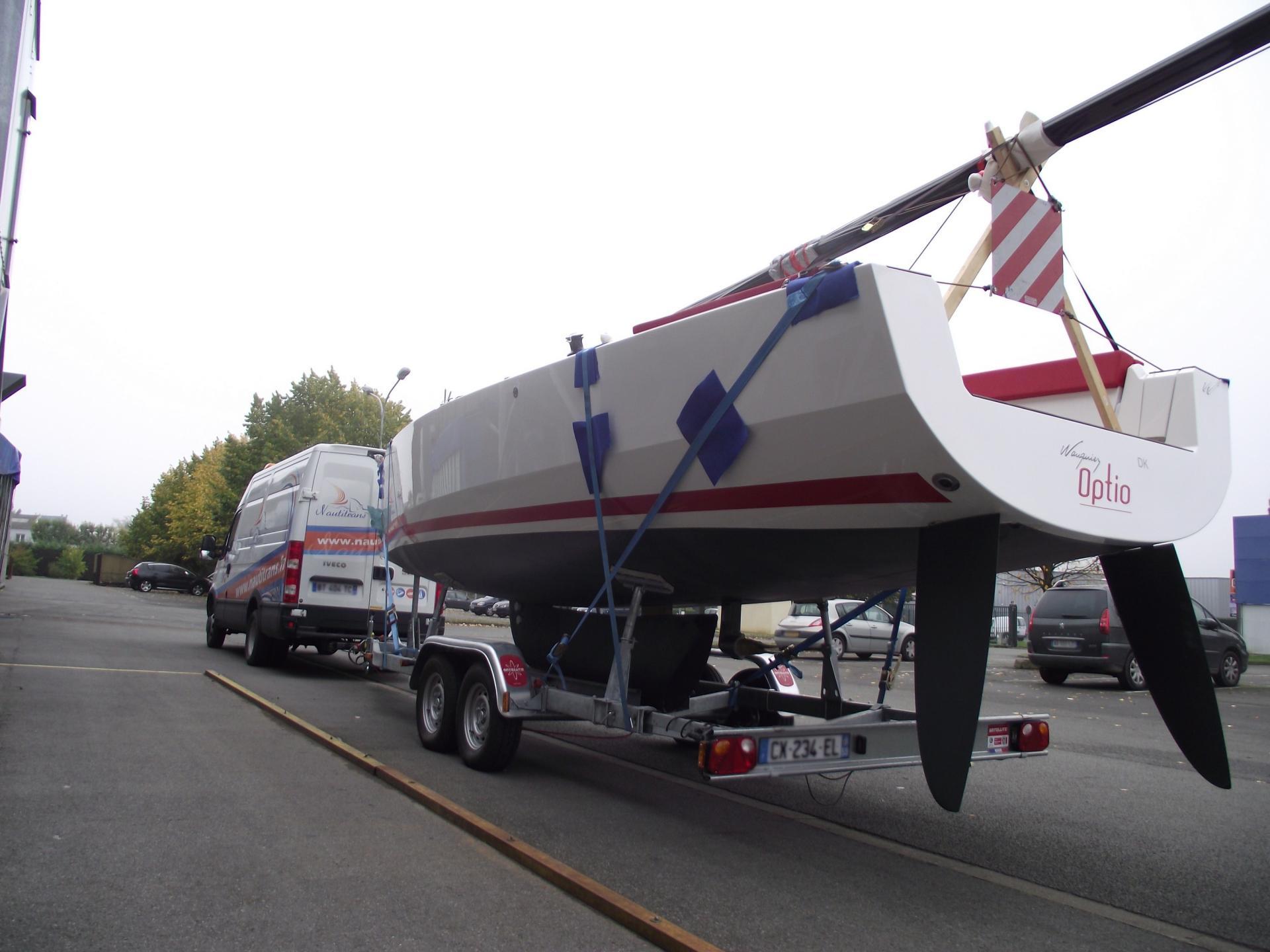 Transport bateau sur remorque